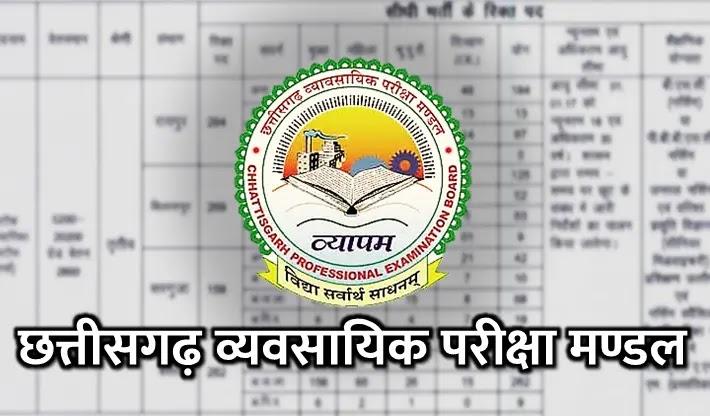 Chhag Vyapam Job & Admit Card Apply online