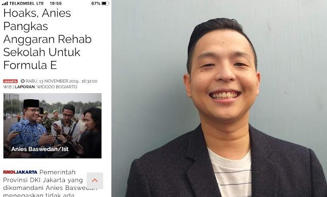 Ernest Prakasa Sebar Hoaks, Anies Baswedan Pangkas Dana Rehabilitasi Sekolah