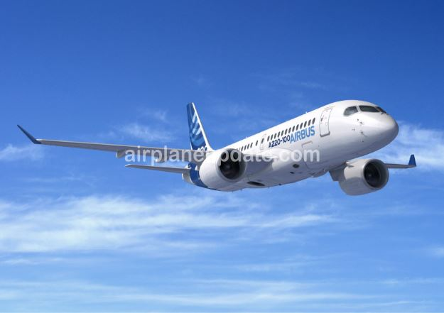 Airbus A220-100 jet