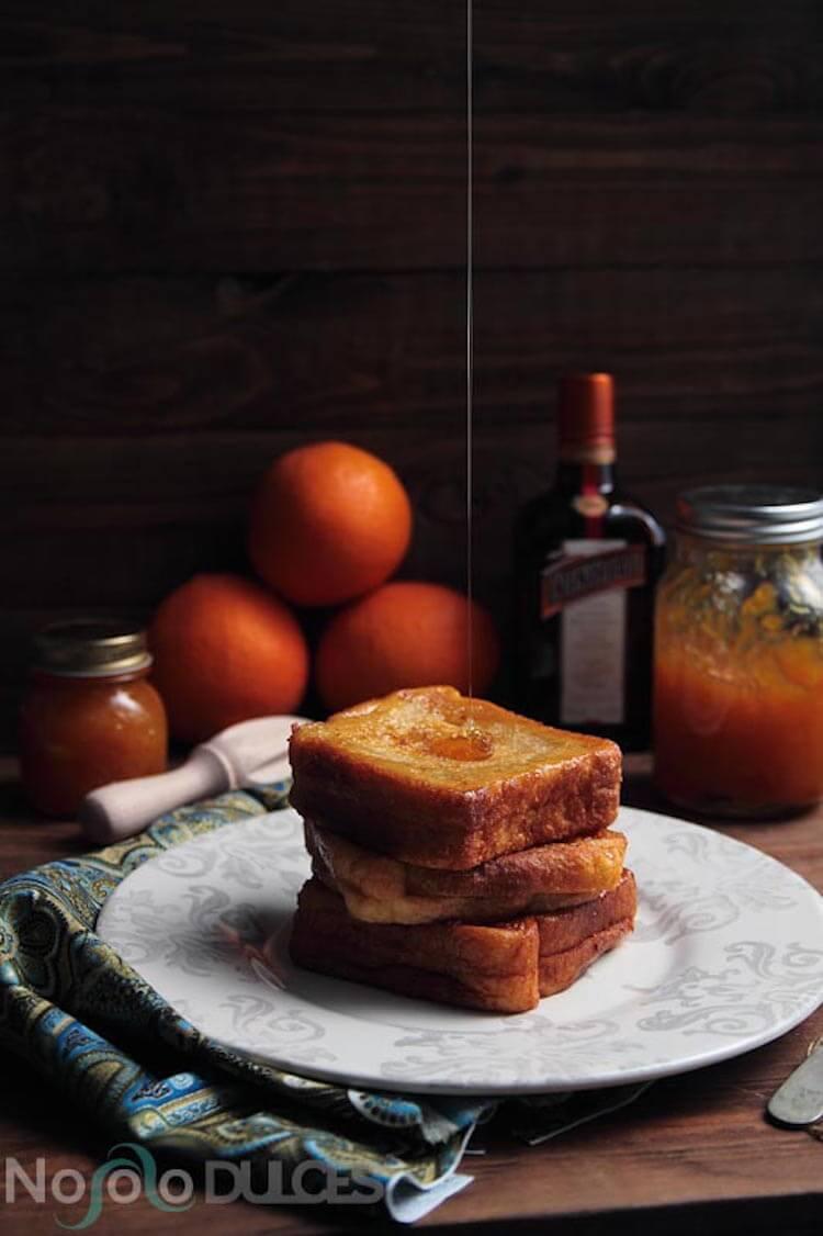 5 recetas con pan de molde festivas, torrijas de Cointreau