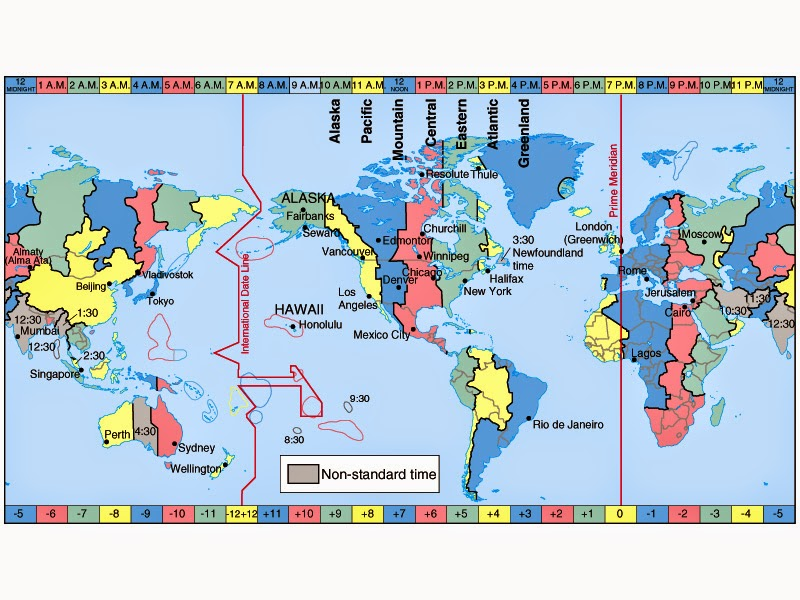 Japan Time zone Map in European Summer