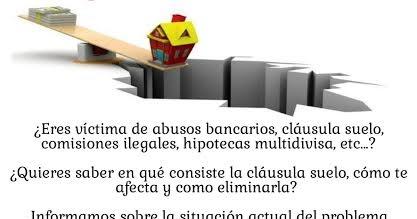 Acto informativo sobre las cl usulas suelo 4 de octubre for Clausula suelo opiniones