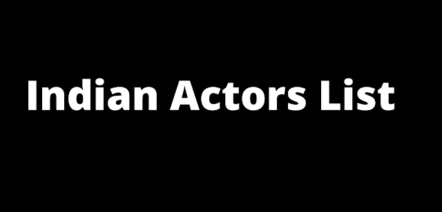 Indian Actor Wiki List