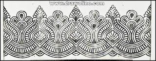 banarasi saree border design/pure banarasi border design sketch/sadi ka kinara drawing