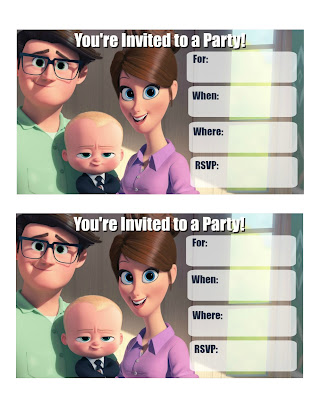 boss baby party invitation