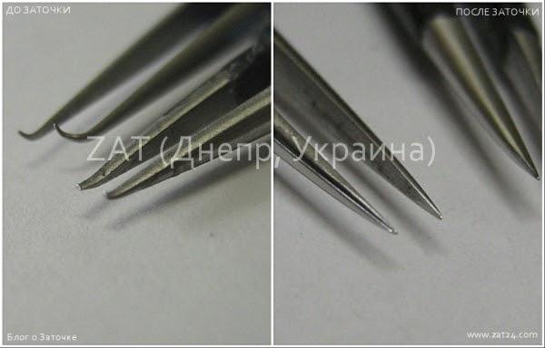 Днепр. Заточка пинцетов для бровей и наращивания ресниц