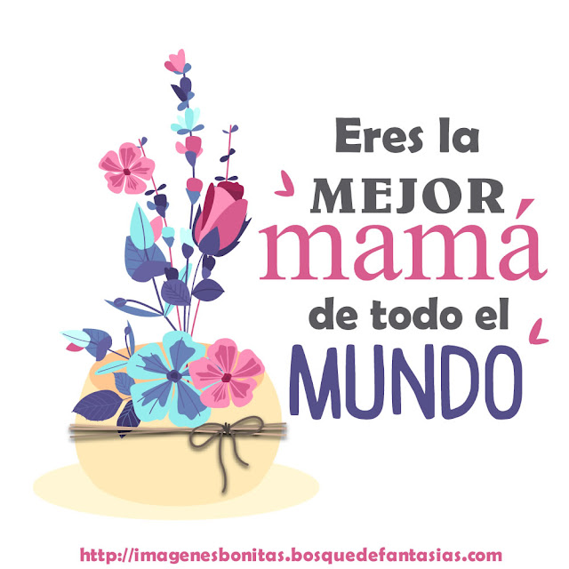 Feliz día de la madre, imágenes con ramo de flores