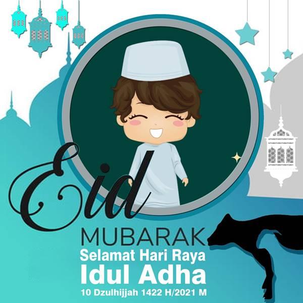 Desain Twibbon Hari Raya Idul Adha oleh Isty Lemaribuku.com