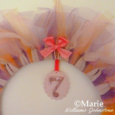 Bow and age number decorative embellishment