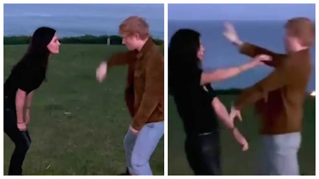 Courteney Cox And Ed Sheeran Doing 'The Routine' Is The Thing We Didn't Know We Needed