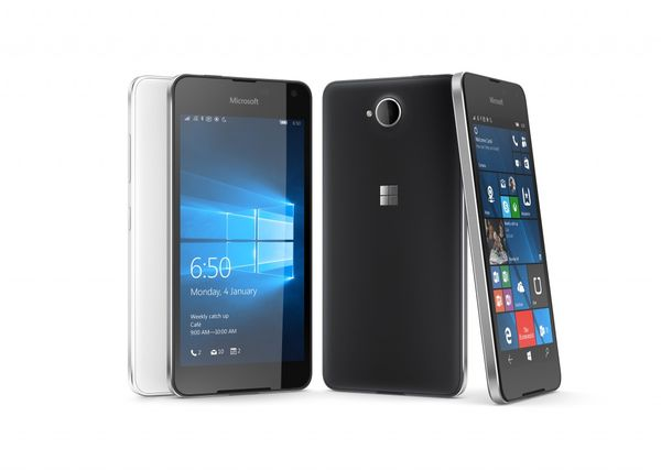 Lumia 650 front and back