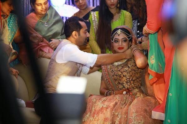Nazriya Nazim Fahad Fazil Marriage Stills