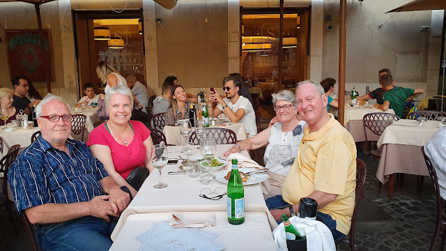 A special reunion: Betty and Graham; Rome, Italy