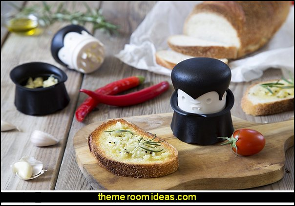 Gracula Garlic Twist Crusher   kitchen accessories -Gothic kitchen decor - gothic kitchenware - gothic dinnerware - skulls kitchen decorations - bat kitchen decor  dracula  vampires - Halloween kitchen decorating - skeletons kitchen decor -  zombie kitchen stuff