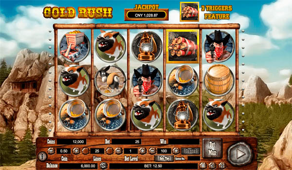 Main Gratis Slot Indonesia - Gold Rush Habanero