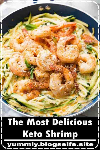 Shrimp and asparagus swimming in a delicious creamy Alfredo sauce almost seems too decadent to be a meal on it's own, but when you're eating keto we're ditching the carbs and embracing all the healthy fats!