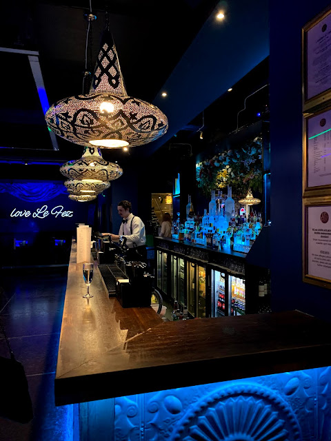 bar at Le Fez club in London