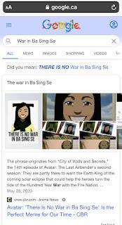 L'Oeuf de Pâques War is Ba Sing Se de Google