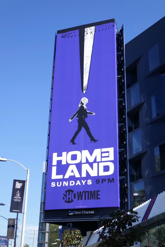Homeland season 7 purple billboard