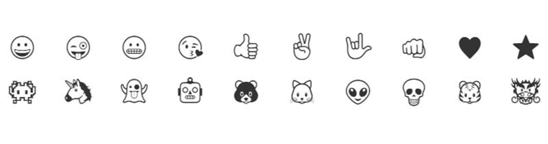 Some of the emojis you can engrave