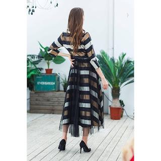 فستان مخطط بتل