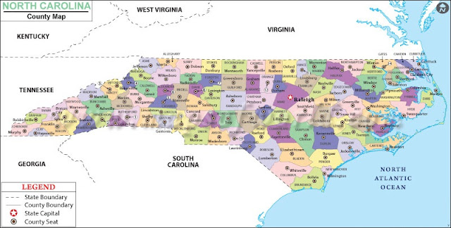 North Carolina Map Map Of North Carolina USA NC Map Best - North carolina on the us map