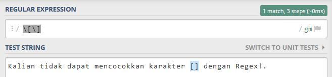 """menggunakan metode Escape dengan mendahului karakter backslash (garis miring) """"\"""""""