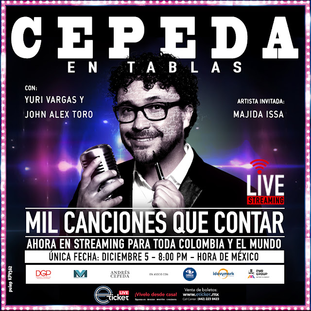 """Andrés Cepeda llega hasta tu casa con su concierto online """"Cepeda en Tablas"""""""