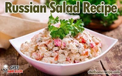 Russian Salad Recipe | How To Make Russian Salad Recipe | Russian Salad Ingredients | Russian Salad - chefhomerecipe.com