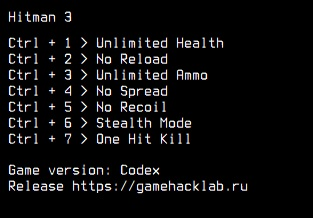 Hitman 3: Trainer (+7) [Codex]