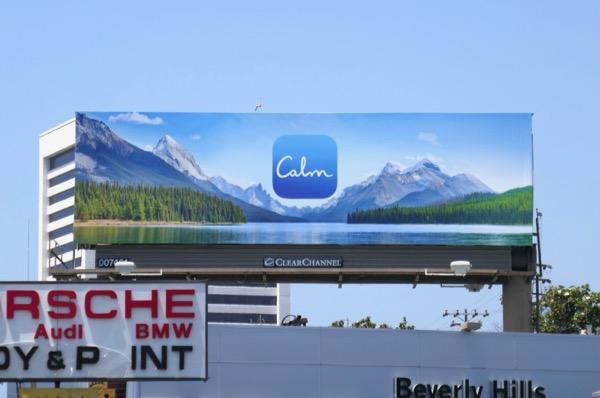 Calm meditation app billboard