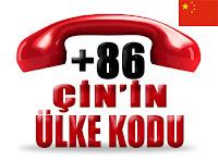 +86 Çin ülke telefon kodu