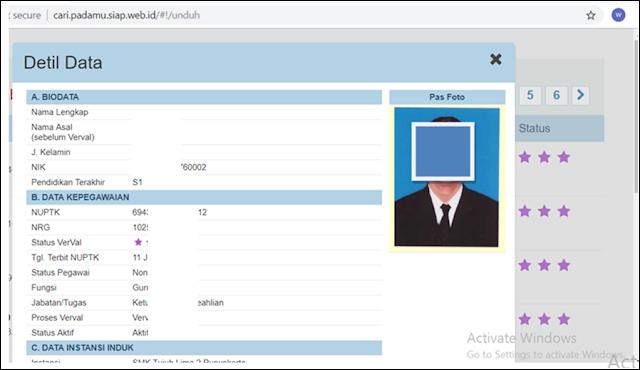 Cara mengetahui status dan identitas guru melalui info gtk