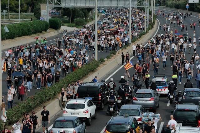 Barcelona, un oraș nesigur - Grevă generală vineri, 18 octombrie