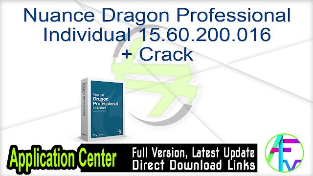 Nuance Dragon Professional Individual 15.60.200.016 + Crack