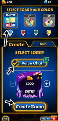 select board and color click voice chat and create room