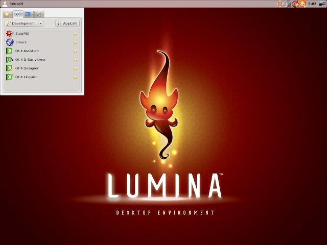 FreeBSD系OS、PC-BSDのデスクトップをLUMINAにしました