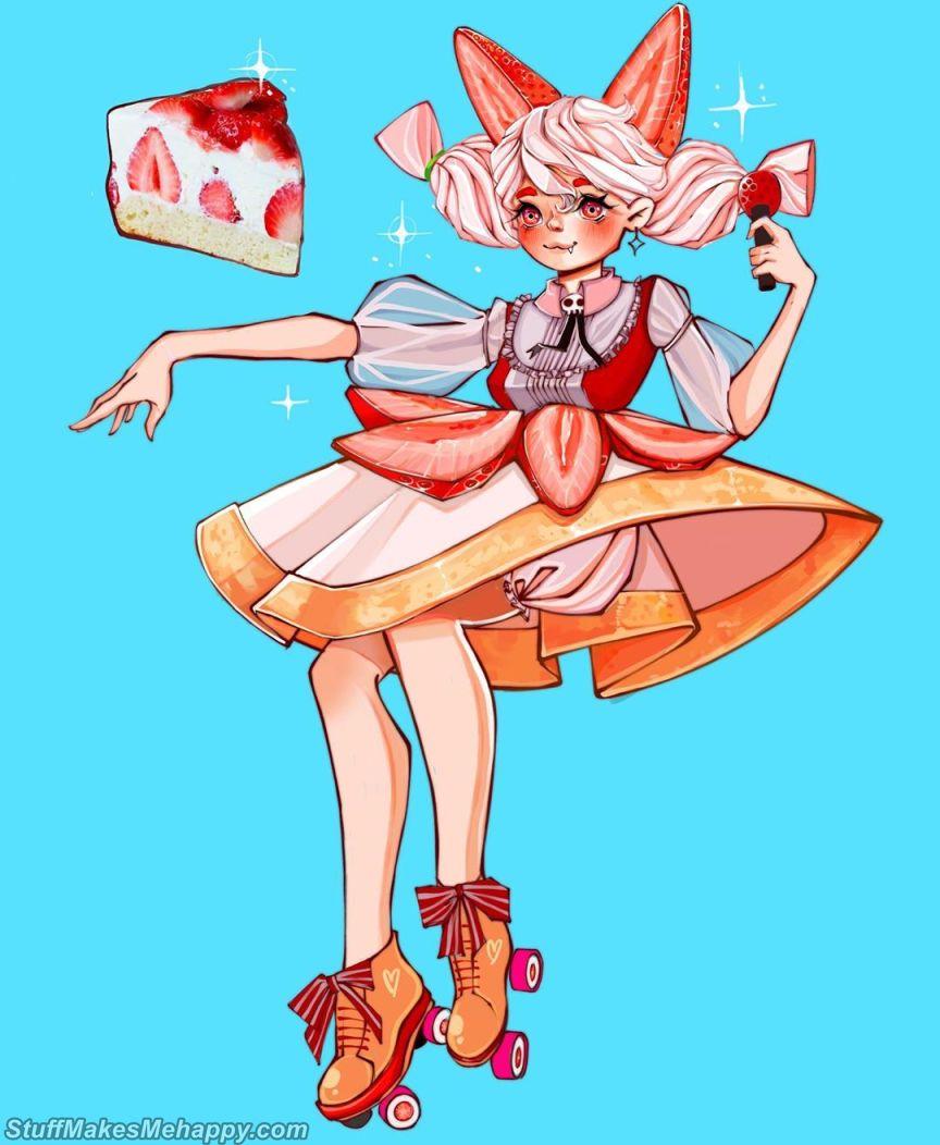 7. Strawberry Cake