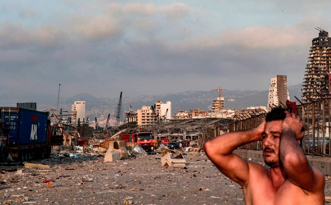 """Letup4n besar menggegarkan Beirut - Trump kata """"serangan ngeri"""""""