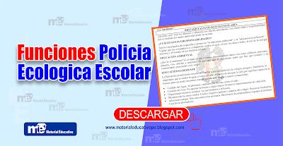 Funciones Policia Ecologica Escolar
