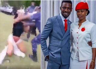 Uganda Presidential Candidate Bobi Wine Wife Beaten And Stripped Naked In Front Of Her Son ...........