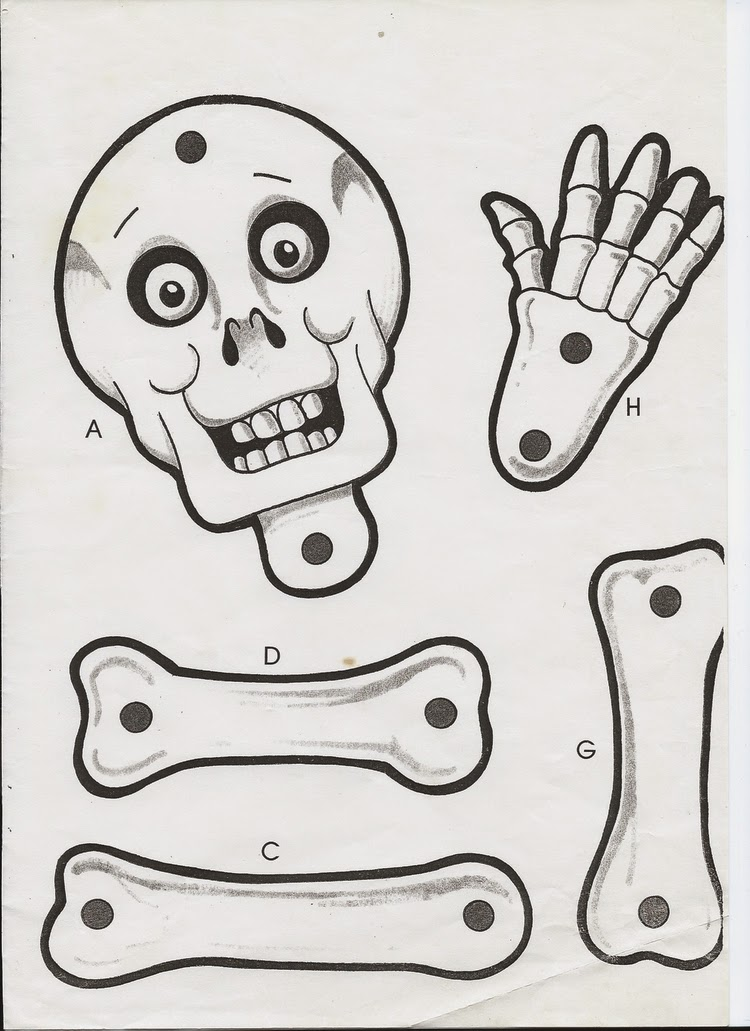 skeleton template to cut out - page 2 multicultural day of the dead