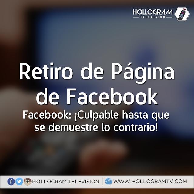 Comunicado y Artículo: Eliminación del Fanpage de Facebook: ¡Culpable hasta que se demuestre lo contrario!