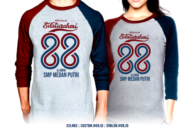 Desain Sablon Kaos Menjalin Silatuhrami Alumni SMP 88