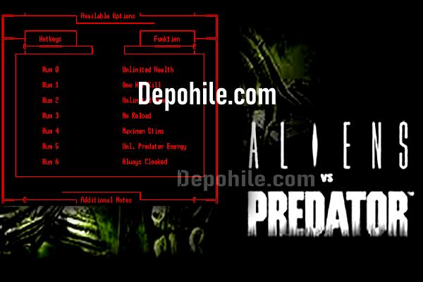 Aliens vs Predator PC Can, Tek Atma +6 Trainer Hilesi İndir