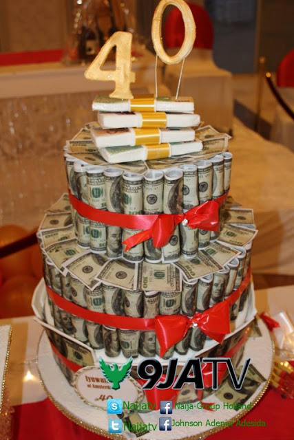 Enjoyable Photo Of Gigantic Dollar Roll Cake That Was Used At A Lavish Personalised Birthday Cards Veneteletsinfo