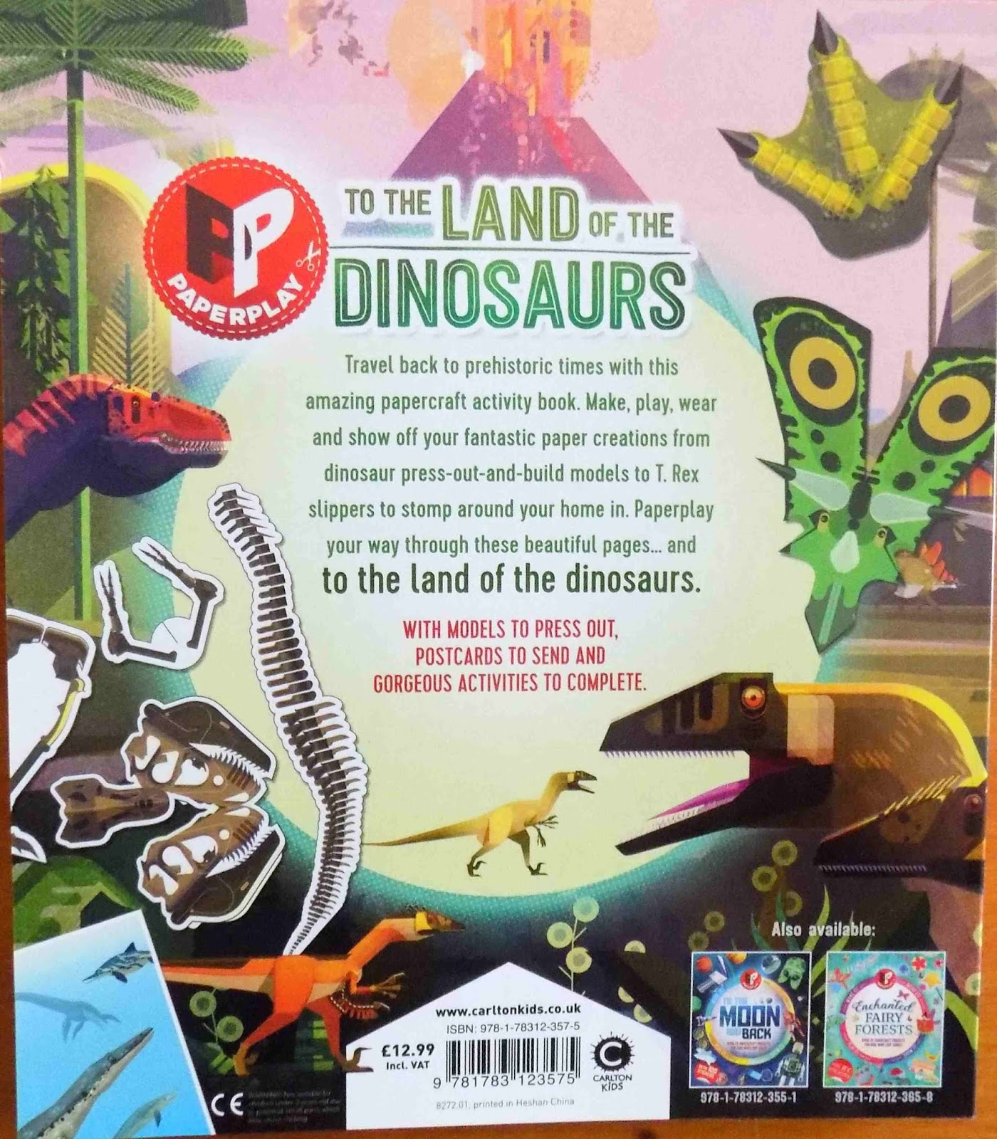 Giveaway #684 : Win To The Land Of The Dinosaurs Paperplay