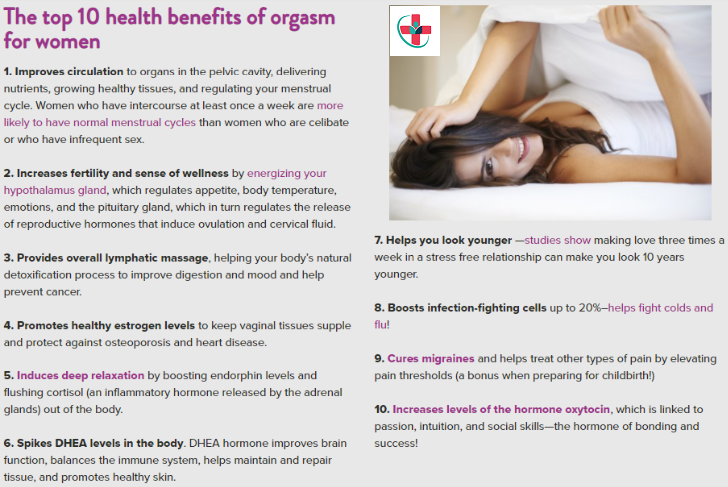The top 10 health benefits of orgasm for women