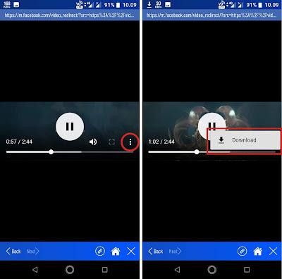 Atau jika tidak muncul Sobat klik tanda titik tiga kemudian Sobat klik Download.