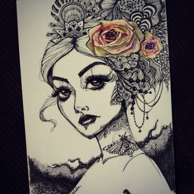 13-Rose-Ink-Steph-Diaz-Zahalka-A-Compilation-of-Different-Portrait-Style-Drawings-www-designstack-co